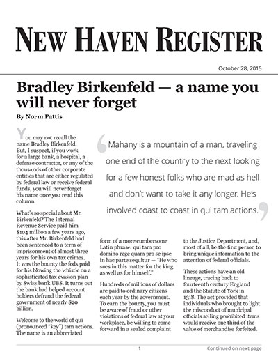 Bradley Birkenfeld - a name you will never forget