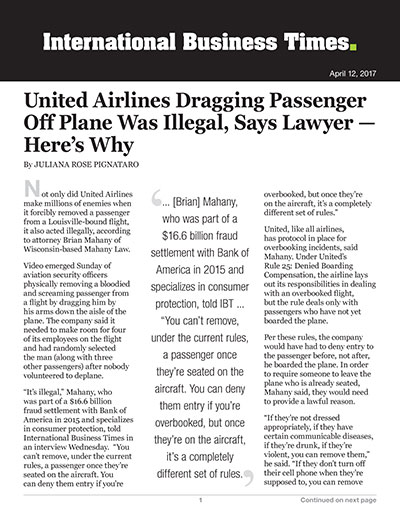 United Airlines Dragging Passenger Off Plane Was Illegal, Says Lawyer – Here's Why